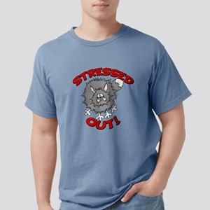 FIN-stressed-out-cat Mens Comfort Colors Shirt