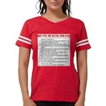 Cats Are Better Than Dogs Womens Football Shirt