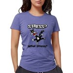 FIN-stress-cat... Womens Tri-blend T-Shirt