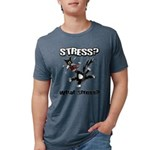 FIN-stress-cat... Mens Tri-blend T-Shirt