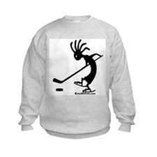 Kokopelli Hockey Player Kids Sweatshirt