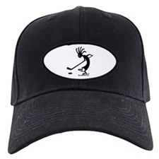 Kokopelli Hockey Player Black Cap