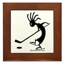 Kokopelli Hockey Player Framed Tile