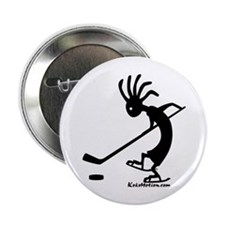 Kokopelli Hockey Player Button