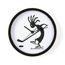 Kokopelli Hockey Player Wall Clock