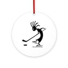 Kokopelli Hockey Player Ornament (Round)