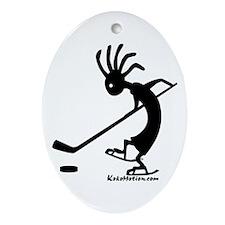 Kokopelli Hockey Player Oval Ornament