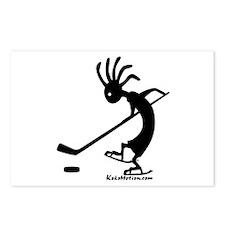 Kokopelli Hockey Player Postcards (Package of 8)