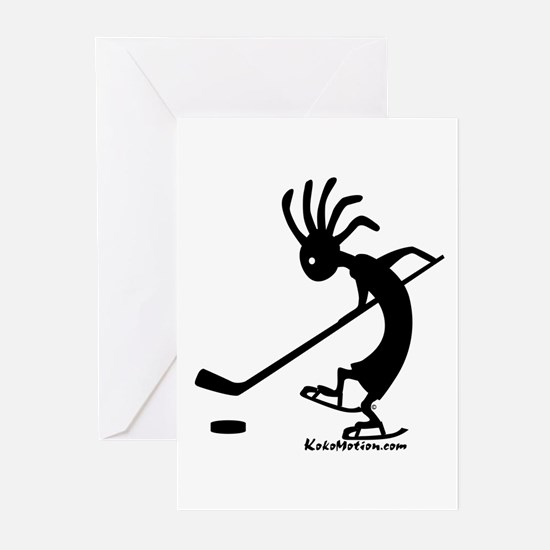 Kokopelli Hockey Player Greeting Cards (Package of