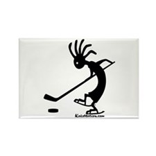Kokopelli Hockey Player Rectangle Magnet (10 pack)