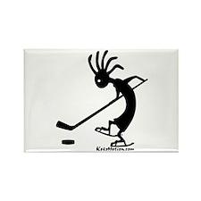 Kokopelli Hockey Player Rectangle Magnet (100 pack