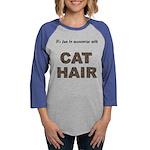 FIN-cat-hair-access... Womens Baseball Tee