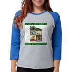 FIN-cats-house-home Womens Baseball Tee