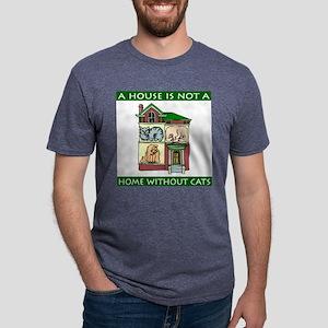 FIN-cats-house-home Mens Tri-blend T-Shirt