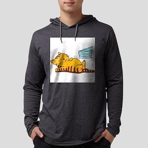 cartoon-fat-cat Mens Hooded Shirt