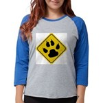 cat-crossing-sign.... Womens Baseball Tee