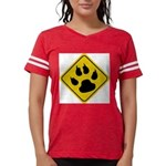 cat-crossing-sign.... Womens Football Shirt