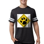 cat-crossing-sign.... Mens Football Shirt