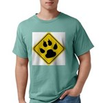 cat-crossing-sign.... Mens Comfort Colors Shirt
