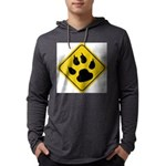cat-crossing-sign.... Mens Hooded Shirt