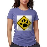 cat-crossing-sign.... Womens Tri-blend T-Shirt