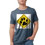 cat-crossing-sign.... Mens Tri-blend T-Shirt