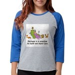 too-many-cats Womens Baseball Tee