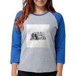 FIN-cats-playing-poker Womens Baseball Tee