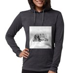 FIN-cats-playing-poker Womens Hooded Shirt