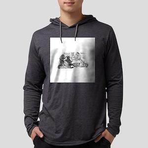 FIN-cats-playing-poker Mens Hooded Shirt