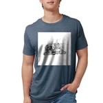 FIN-cats-playing-poker Mens Tri-blend T-Shirt