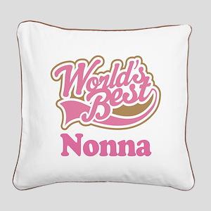 Cute Nonna Square Canvas Pillow