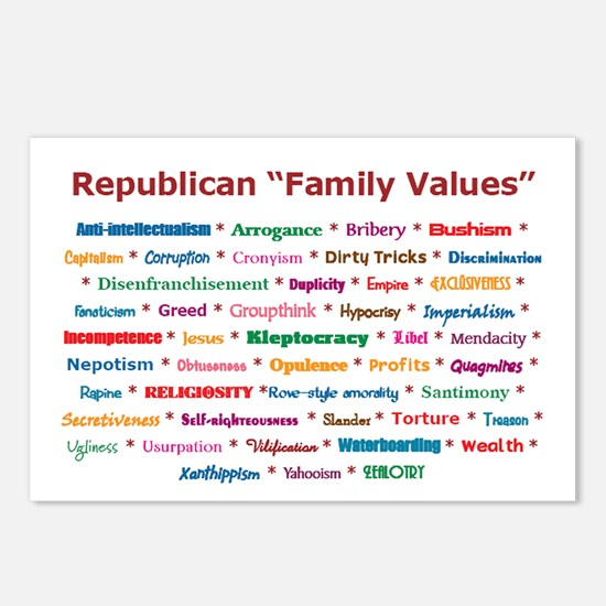 Republican Values Postcards (Package of 8)