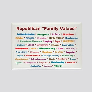 Republican Values Rectangle Magnet