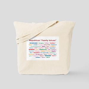 Republican Values Tote Bag