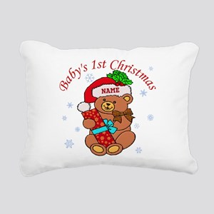Baby's 1st Christmas Rectangular Canvas Pillow