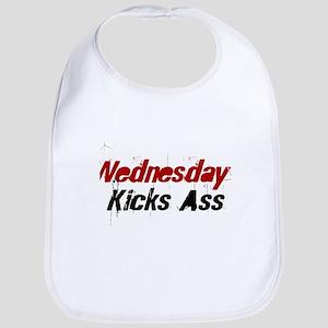 Wednesday Kicks Ass Bib