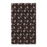 Pink Roses on Dark background 3'x5' Area Rug