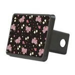 Pink Roses on Dark background Rectangular Hitch Co