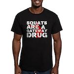 Squats Drug 2 Men's Fitted T-Shirt (dark)