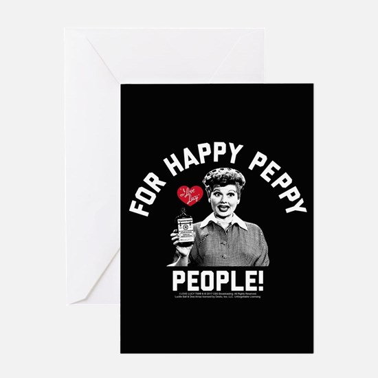 Lucy Happy Peppy People Greeting Card