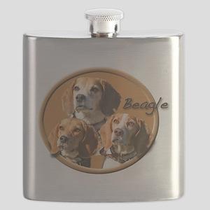 Beagles (3) Flask