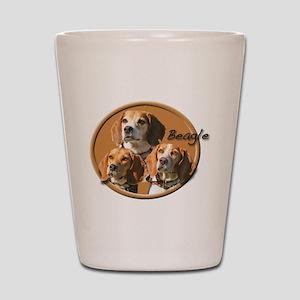Beagles (3) Shot Glass
