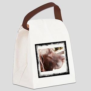 Chocolate Labrador Canvas Lunch Bag
