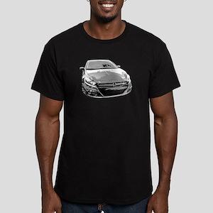 Dart Men's Fitted T-Shirt (dark)