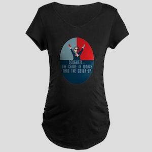 Obama Benghazi Maternity Dark T-Shirt