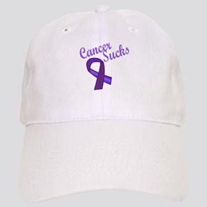 Cancer Sucks Purple Ribbon Cap