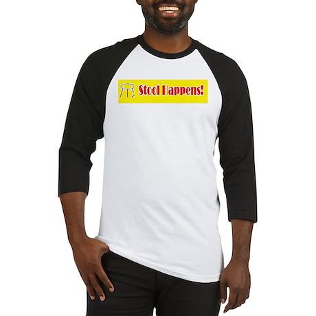 Stool Happens yellow Baseball Jersey