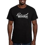 White Istaria Logo Men's Fitted T-Shirt (dark)