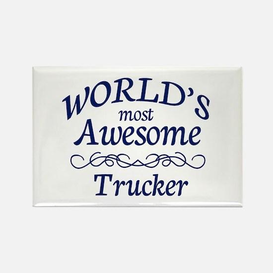 Trucker Rectangle Magnet